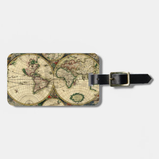 World Map of 1689 Gifts Bag Tag