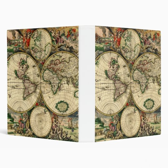 World Map of 1689 Gifts Binder