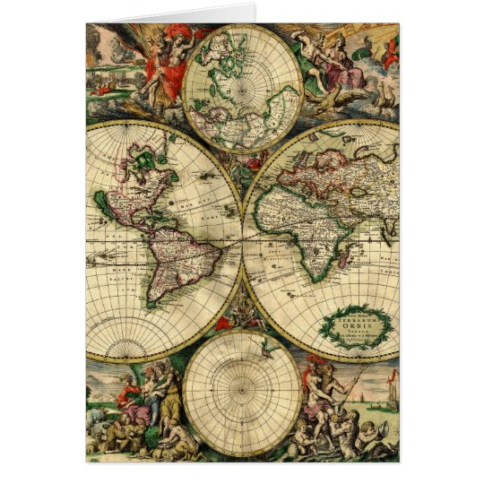 World Map of 1689 Gifts Card