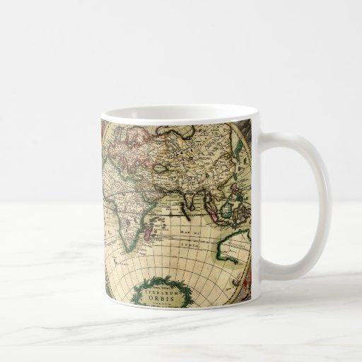 World Map of 1689 Gifts Classic White Coffee Mug