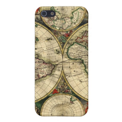 World Map of 1689 Gifts Cover For iPhone 5