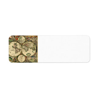 World Map of 1689 Gifts Label