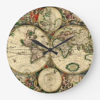 World Map of 1689 Gifts Large Clock
