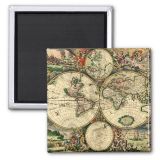 World Map of 1689 Gifts Magnet