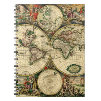 World Map of 1689 Gifts Notebook