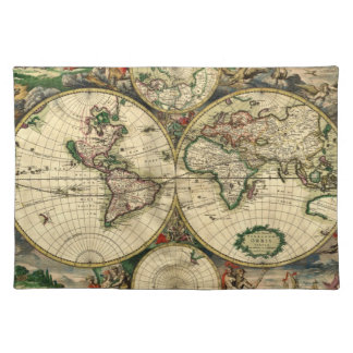 World Map of 1689 Gifts Placemats