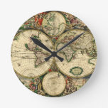 World Map of 1689 Gifts Round Clock