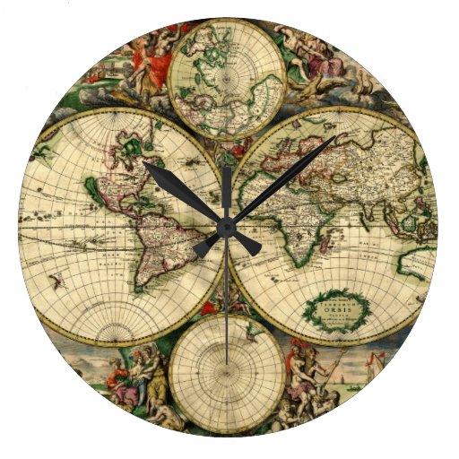 World Map of 1689 Gifts Wall Clocks