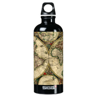 World Map of 1689 Water Bottle
