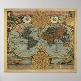 World Map of 1702 Print