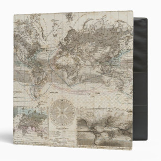 World map of Air Flow 3 Ring Binder