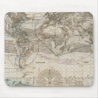 World map of Air Flow Mouse Pad