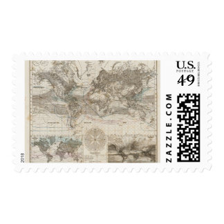 World map of Air Flow Stamp