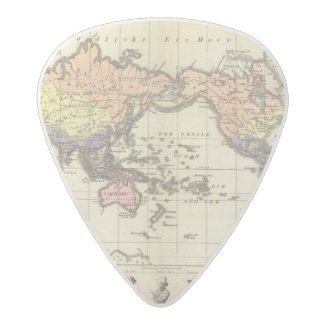 World Map of Clothing Styles Acetal Guitar Pick