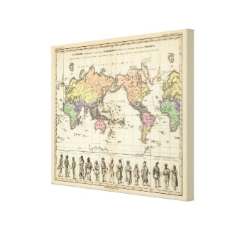 World Map of Clothing Styles Canvas Print