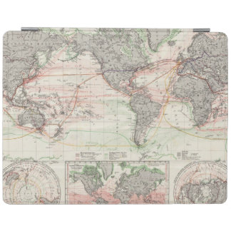 World Map of Ocean Currents iPad Smart Cover