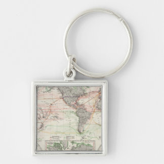 World Map of Ocean Currents Keychain