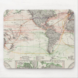 World Map of Ocean Currents Mouse Pad