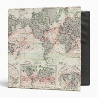 World Map of Ocean Currents Vinyl Binders