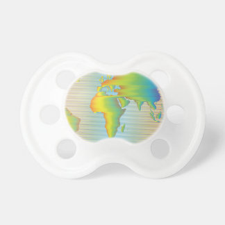 World map of rainbow bands pacifier