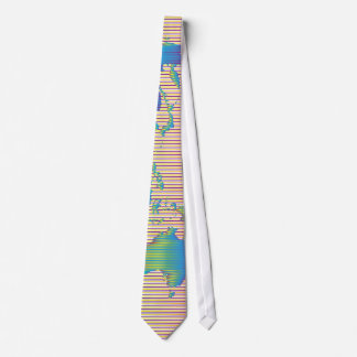 World map of rainbow bands tie