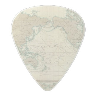 World Map of the Shipping Canals Acetal Guitar Pick