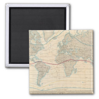 World Map of the Vegetation 2 Inch Square Magnet