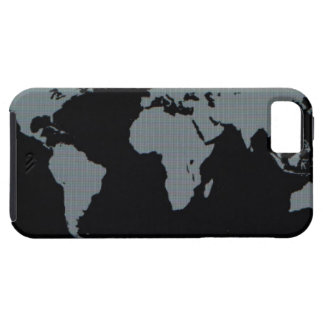 World Map on Computer Monitor iPhone SE/5/5s Case