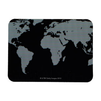 World Map on Computer Monitor Magnet