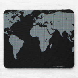 World Map on Computer Monitor Mouse Pad