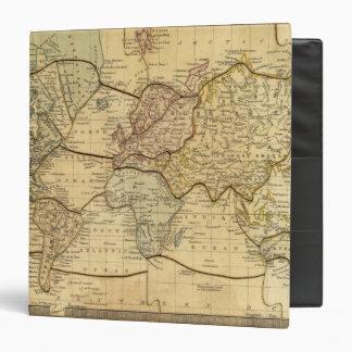 World map on Mercators Projection 3 Ring Binder
