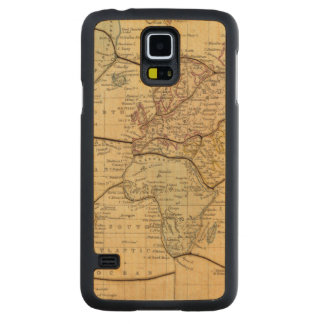 World map on Mercators Projection Carved® Maple Galaxy S5 Slim Case