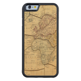 World map on Mercators Projection Carved Maple iPhone 6 Bumper Case