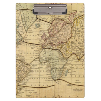 World map on Mercators Projection Clipboards