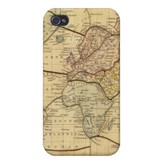 World map on Mercators Projection Cover For iPhone 4