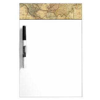 World map on Mercators Projection Dry Erase Board