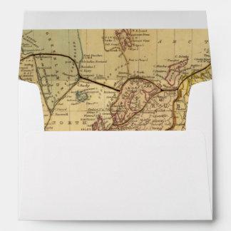 World map on Mercators Projection Envelopes