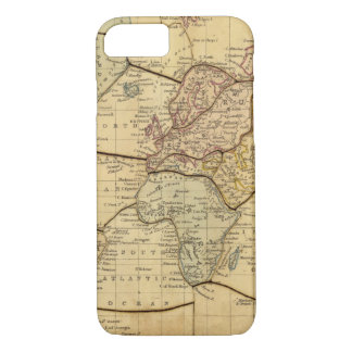 World map on Mercators Projection iPhone 7 Case