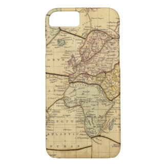 World map on Mercators Projection iPhone 8/7 Case