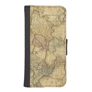 World map on Mercators Projection iPhone SE/5/5s Wallet Case