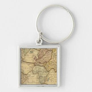 World map on Mercators Projection Keychain