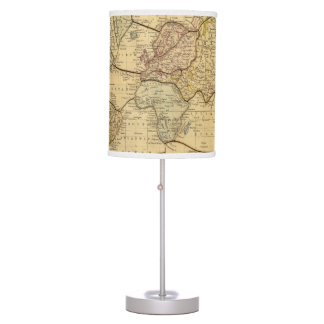 World map on Mercators Projection Table Lamp
