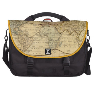 World map on Mercators Projection Bags For Laptop