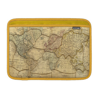 World map on Mercators Projection MacBook Air Sleeve