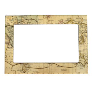 World map on Mercators Projection Picture Frame Magnets