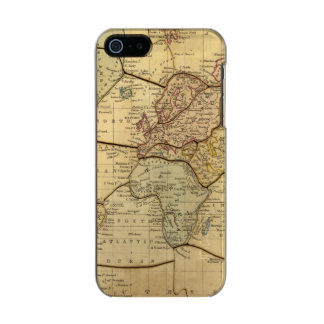 World map on Mercators Projection Metallic iPhone SE/5/5s Case