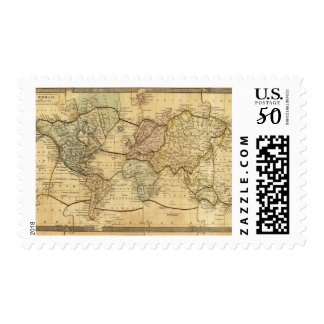 World map on Mercators Projection Postage