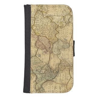 World map on Mercators Projection Samsung S4 Wallet Case