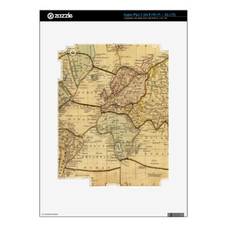 World map on Mercators Projection Decals For iPad 3