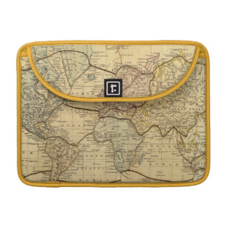 World map on Mercators Projection Sleeves For MacBook Pro